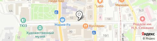 Юрбюро на карте Томска