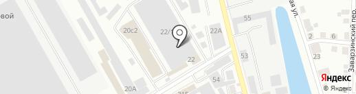 Мясной двор на карте Томска