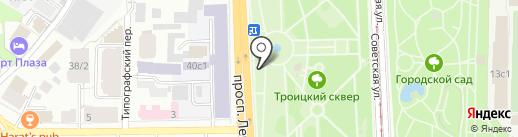 Сеть городских ледовых катков на карте Томска