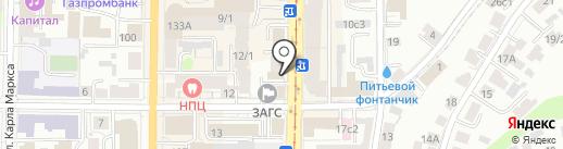 Старый конь на карте Томска