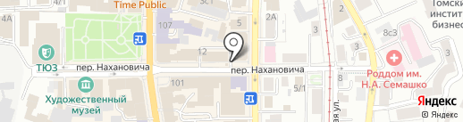 Луна-принт на карте Томска