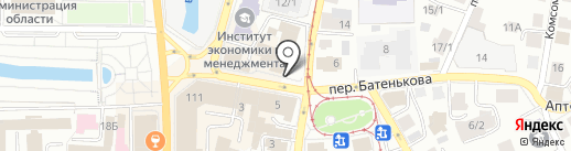 Колибри на карте Томска