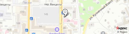 Октант на карте Томска