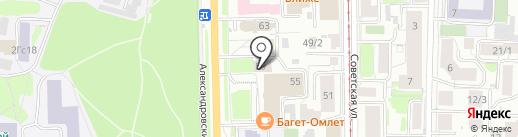 Единый Визовый Центр на карте Томска