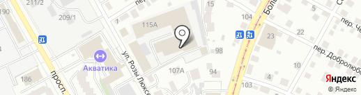 Теплицы-Строй на карте Томска