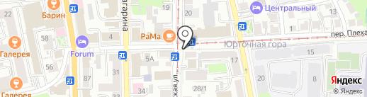 Киоск фастфудной продукции на карте Томска