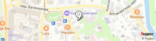 Стразы на карте Томска