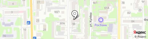 МАДЕЗ на карте Томска