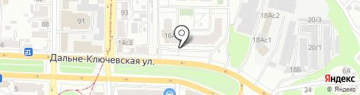 Эффект на карте Томска