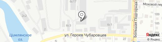 Абрис-Авто на карте Томска