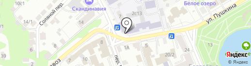 Томский государственный архитектурно-строительный университет на карте Томска