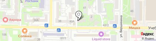 Родник на карте Томска