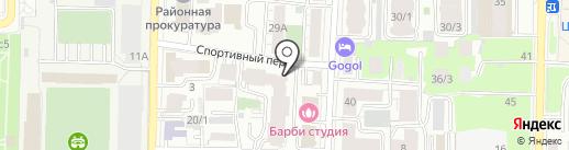 Цветочные детали на карте Томска