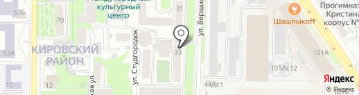 56 параллель на карте Томска