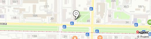 Рада и К на карте Томска