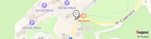 Магазин спортивной одежды и обуви на карте Белокурихи