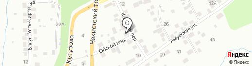 Томская вощина на карте Томска