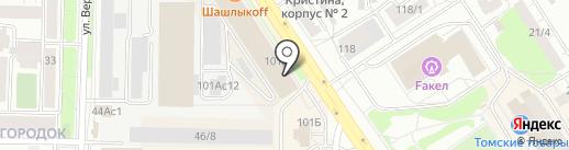Милана на карте Томска