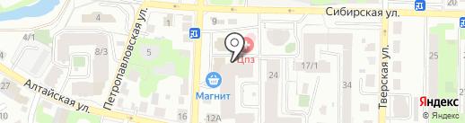 Текстильно на карте Томска