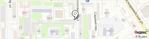 Под Тёмным флагом на карте Томска