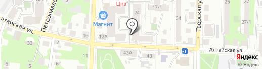 ТЭССА на карте Томска