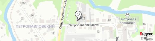 Internet v Tomske на карте Томска