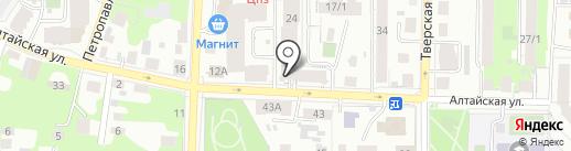 Путь жизни на карте Томска