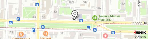 Пекарский дворик на карте Томска