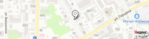 Газпроектинжиниринг, ДОАО на карте Томска