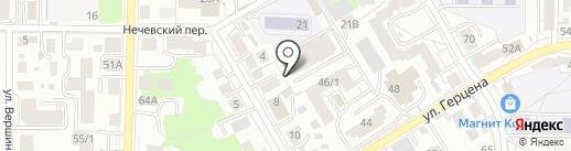 Академикс на карте Томска