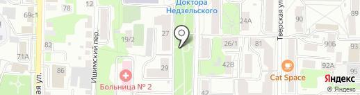 Часовня Преображения Господня на карте Томска