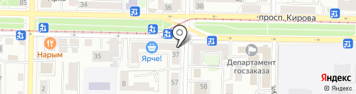 Рыжик на карте Томска