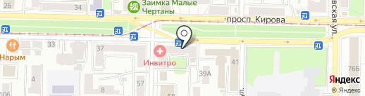 Магазин обуви на карте Томска