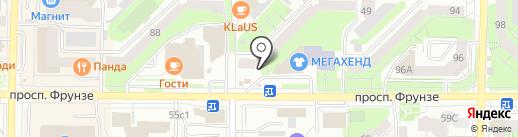 Аян на карте Томска