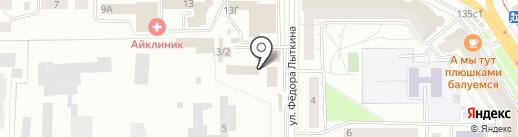 ДСК Кедр на карте Томска