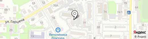 Голубь, ЖСК на карте Томска
