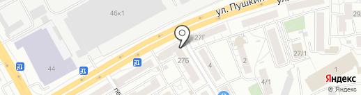 Молочная лавка на карте Томска
