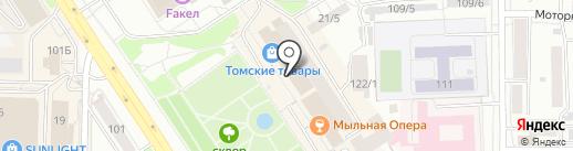 БОЕЦ на карте Томска