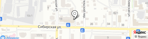 Пивной бочонок на карте Томска