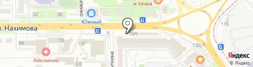 Смартфон на карте Томска