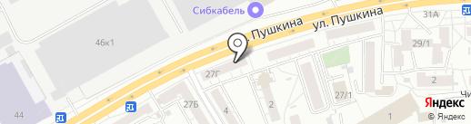 Воздушное настроение на карте Томска