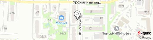Тарарам на карте Томска