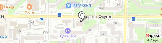 Буланже на карте Томска