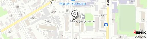 Мустанг на карте Томска
