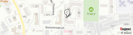 Сабрина на карте Томска