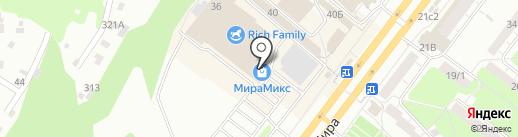 Дом шоколада на карте Томска