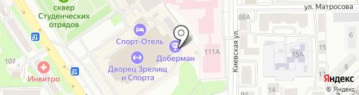Стаффорд на карте Томска