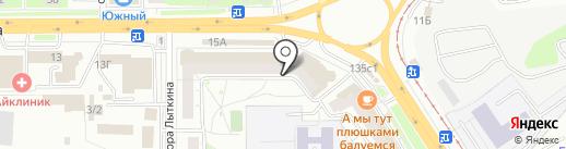 Лилия на карте Томска