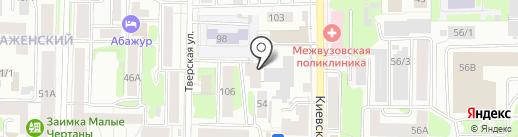 Автоинлайн на карте Томска