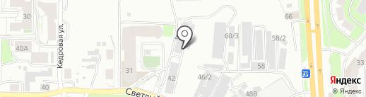 Автоангар-Томск на карте Томска